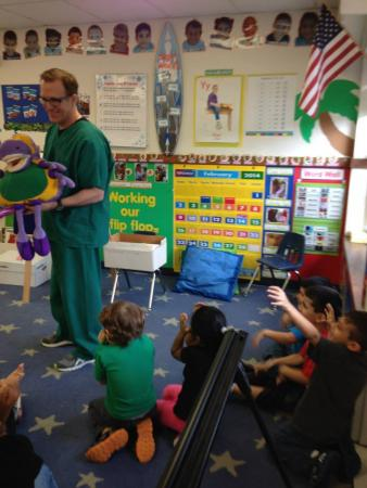 Dr. Goldstein's school visit answering questions