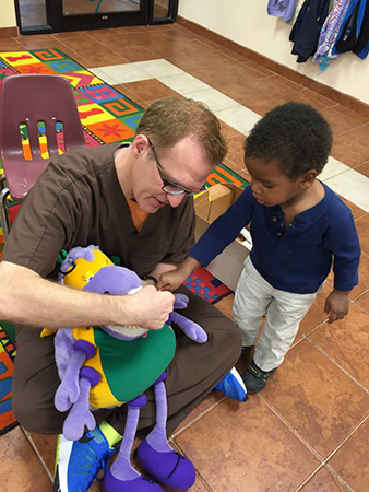 Dr. Goldstein's school visit with Tooth Bug